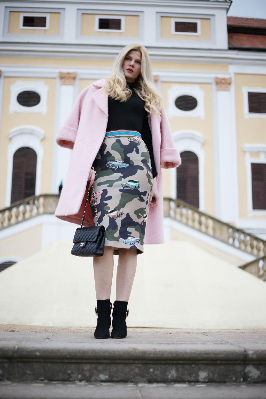 Outfit  Camo Print PINKO Skirt  0559b85862